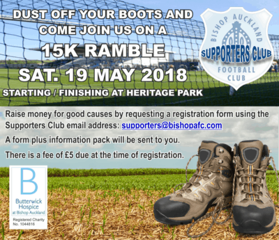 Join The Bishop Auckland FC Supporters Club for a Family Sponsored Walk